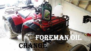 2. How To Change ATV / quad bike engine / motor oil - 2001 Honda Foreman 450s 43000km