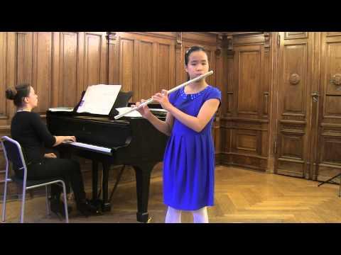 Jules Mouquet , La Flute de Pan,  mvt 1 , Simona , flute ,Lilla Akademien (видео)