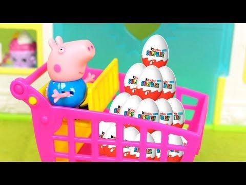 Video ❤ PEPPA PIG ❤ George se lleva un montón de huevos kinder | Vídeos de juguetes español download in MP3, 3GP, MP4, WEBM, AVI, FLV January 2017