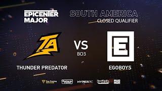 EgoBoys vs Thunder Predator, EPICENTER Major 2019 SA Closed Quals , bo3, game 2 [Eritel]