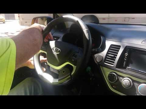 Kia Picanto 2013 adaptado com acelerador e freio manual + central de comandos e inversão de pedal do acelerador a esquerda.
