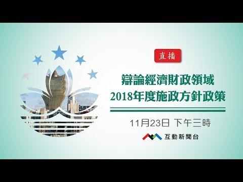 辯論經濟財政領域2018年度施政 ...