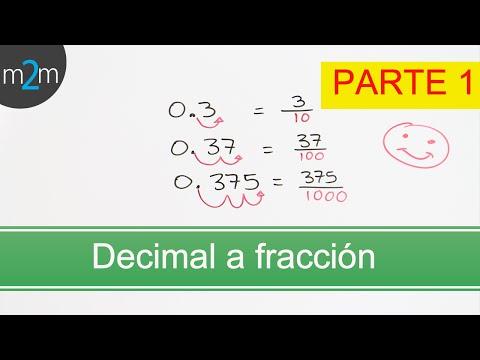 Vídeos Educativos.,Vídeos:Convertir decimal a fracción I
