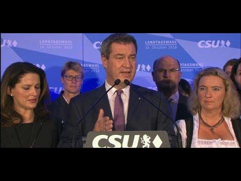 Markus Söder zum Wahlergebnis: