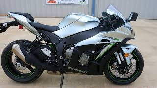 1. 2018 Kawasaki Ninja ZX10R ABS Metallic Matte Fusion Silver Overview and Review