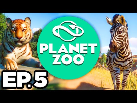 Planet Zoo Ep.5 - 🔍 ZOO INSPECTOR! NEW PEAFOWL ENCLOSURE & GUEST SHOPS!!! (Gameplay / Let's Play)