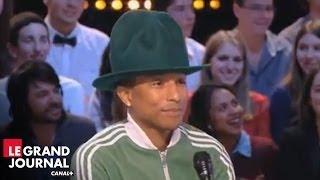 """Pharrell Williams et les différentes versions du clip """"Happy"""" - Le Grand Journal"""
