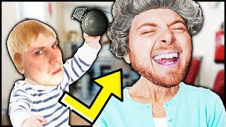GRANDSON TRIES TO KILL GRANNY!!