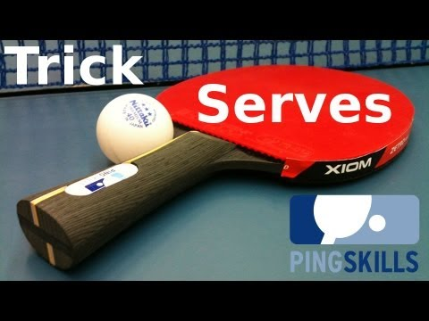 Table Tennis Trick Serves by PingSkills