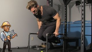 7. Homemade Parallettes - Best for Dips, Rows, Abs - DIY Dudes