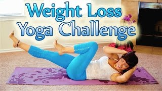 Yoga Weight Loss Challenge Workout 2, 25 Minute Yoga Meltdown Beginner & Intermediate Fat Burning - YouTube