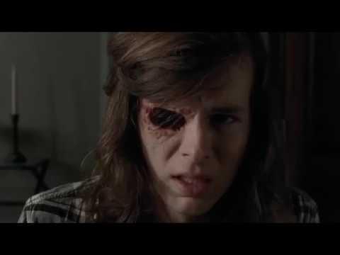 The Walking Dead - Carl shows Negan his eye.