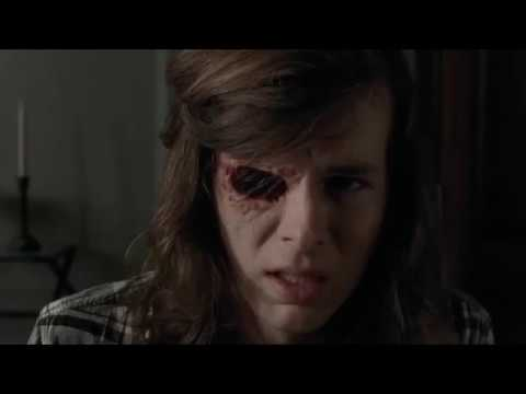 The Walking Dead - Carl Shows Negan His Eye.