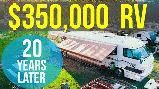 """Video TOUR OF OUR 20 YEAR OLD """"LUXURY"""" RV - Family of 7 living in FORETRAVEL Motorhome with NO SLIDES!!! MP3, 3GP, MP4, WEBM, AVI, FLV Maret 2018"""