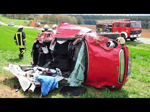 Minifahrerin nach Unfall in Klinik geflogen