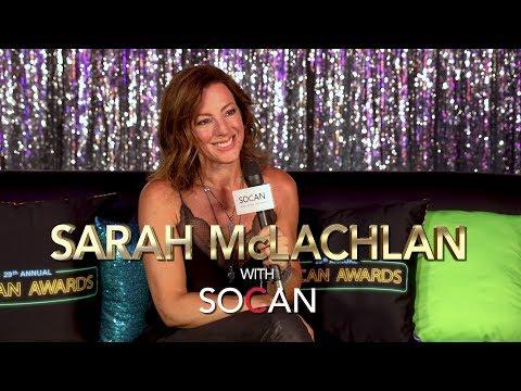 Sarah McLachlan with SOCAN