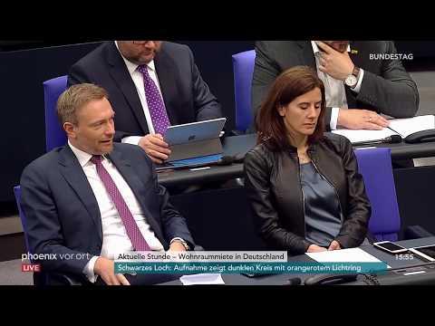 Bundestag: Aktuelle Stunde zur Wohnraummiete in Deutschland am 10.04.2019
