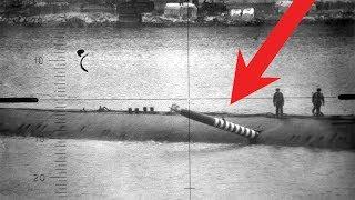 Торпеда торчит в борту советской подлодки в 1989 году