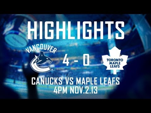 Canucks - The Vancouver Canucks defeat the Toronto Maple Leafs 4-0 on Pavel Bure night at Rogers Arena. Daniel Sedin, Zack Kassian, Dan Hamhuis and Chris Higgins score...