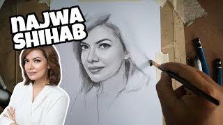 Download Video Wow, cara menggambar NAJWA SHIHAB sangat mudah MP3 3GP MP4