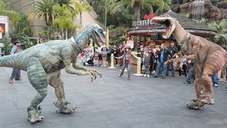Attack of the Raptors at Universal Studios Hollywood for #JurassicPark25 event