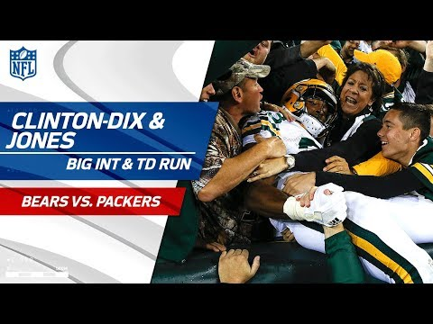 Video: Clinton-Dix's INT Sets Up Rodgers' Bomb to Nelson & Jones' TD! | Bears vs. Packers | NFL Wk 4
