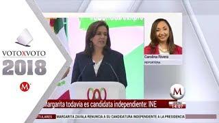 Video Para el INE, Margarita Zavala todavía es candidata MP3, 3GP, MP4, WEBM, AVI, FLV Juni 2018
