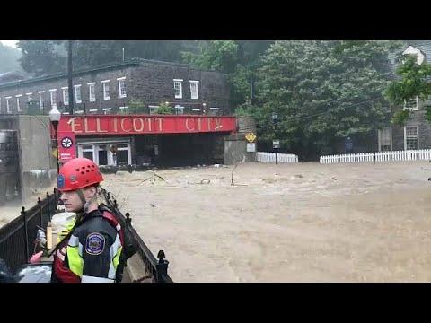 Θεομηνία έπληξε το Μέριλαντ-Δρόμοι έγιναν ορμητικά ποτάμια…