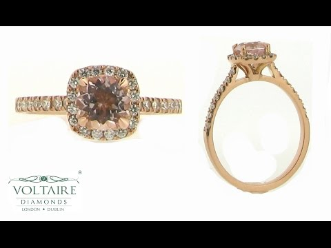 ER 1504 - Rose Gold Engagement Ring with Morganite Centre Stone