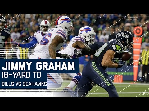 Video: Jimmy Graham Hurdle & Second Incredible One-Handed Touchdown Catch | Bills vs. Seahawks | NFL