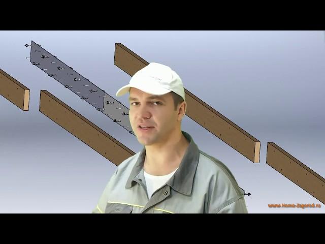 Расчет деревянных конструкций, как удлинить стропила, строительство домов своими руками