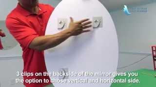 Frameless Oval Mirror