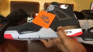 Video Air Jordan Bred 4 2019 real VS fake. Both shoes on hand. Easy cop! MP3, 3GP, MP4, WEBM, AVI, FLV Mei 2019