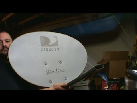Scrapping a Satellite Dish For Steel Aluminum and GOLD!