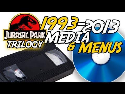 Jurassic Park Media Evolution   1993-2013   VHS, DVD, Blu-ray