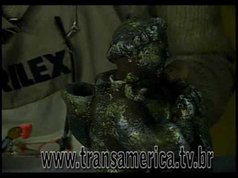Tv Transamérica Tecnica pintura em gesso - envelhecimento com esponjado Parte 1