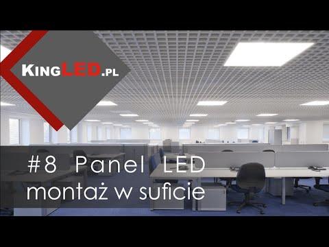 Panele LED 60x60 montaż w podiweszanym suficie #8 -Poradnik od KINGLED pl