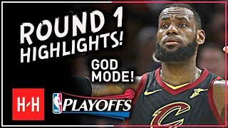 Video GOD MODE! LeBron James Full ROUND 1 Highlights vs Indiana Pacers | All GAMES - 2018 Playoffs MP3, 3GP, MP4, WEBM, AVI, FLV Maret 2019