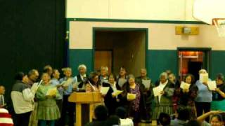 Wainwright Elder's singing When the Roll is Called Up Yonder in Inupiaq during Gregg Tagarook Sr.'s funeral.