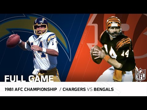 Video: 1981 AFC Championship Game: Chargers vs. Bengals |