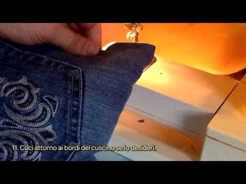 Crea un Cuscino di Jeans - Fai da Te Casa - Guidecentral