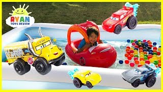 Disney Cars 3 Toys Lightning McQueen Kids Swimming Pool with Ryan ToysReview! There's also color balls and water balloons! Ryan's Family, Twins Baby sisters Emma and Kate, Ryan, and Mommy had a fun time playing with Disney Toys! There's lots of Disney Cars Waters Toys including Miss Fritter Splash Racers Vehicle,Cars 3 Splash Racers Lightning McQueen Vehicle, Cruz Ramirez,Dr. Damage Vehicle and more! 5000 Bunch O Balloons Water Balloons Fight for Kids! Despicable Me 3 Target Family Fun Activities https://youtu.be/apOQaj-GN5k?list=PLasCX3wfxLR2n9xPn_QEUmEJCGu4onix0Inflatable toys funhttps://www.youtube.com/playlist?list=PLasCX3wfxLR1Y2izsAUe1ofT0PfqAIJ7lWater Slide for Kids with Giant Shark H2O Go Inflatable Toys https://youtu.be/p96VMhi8yYk?list=PLasCX3wfxLR1Y2izsAUe1ofT0PfqAIJ7lFamily Fun Adventures Amusement Park Outdoor and Indoor playtime!https://www.youtube.com/playlist?list=PLasCX3wfxLR0fX5E3lWKSjts8rYVrmc-nPLAYING AT THE WATERPARKhttps://youtu.be/fW_I_9r7wN4?list=PLasCX3wfxLR3jUi6W_y8bSbaAJiYc9RAUFamily Fun Beach Water Slide for kids https://youtu.be/dQpOeGhRMaY?list=PLasCX3wfxLR3jUi6W_y8bSbaAJiYc9RAU RollerCoaster Water Slidehttps://youtu.be/GTKC22pt8HM?list=PLasCX3wfxLR3jUi6W_y8bSbaAJiYc9RAUFamily Fun in the Mickey Mouse Pool https://youtu.be/1AHTM1e0K9I?list=PLasCX3wfxLR3jUi6W_y8bSbaAJiYc9RAU