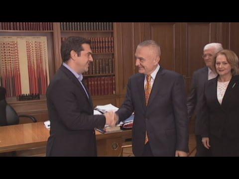 Συνάντηση Α.Τσίπρα με τον πρόεδρο του Κοινοβουλίου της Αλβανίας