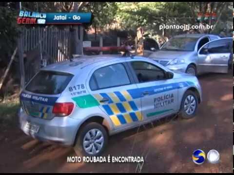 Policia intercepta bandidos e recupera moto roubada em Jataí