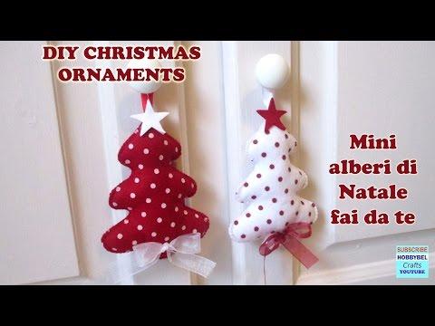 decorazioni natalizie - mini alberi di natale fai da te