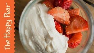 Strawberries and Cream   VEGAN