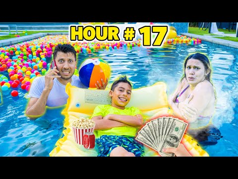 LAST PERSON to LEAVE POOL Wins $1000! | The Royalty Family