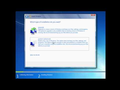 how to clean install windows 7 with preinstall no cd