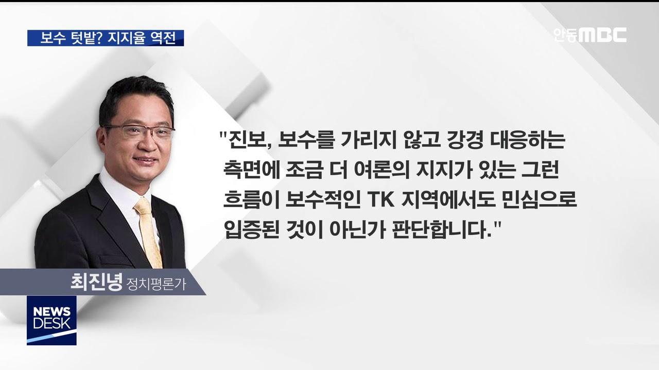 R]대구 맞나? 민주당, 한국당 지지율 역전