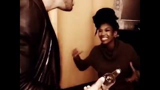 Brandy teaching her background singers her vocal runs